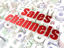 Marketing concept: Sales Channels on alphabet background Stock Image