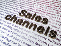 Marketing concept:  Sales Channels on Business background Stock Photo