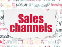 Marketing concept: Sales Channels on Torn Paper Stock Photo