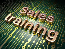 Marketing concept: Sales Training on circuit board. Marketing concept: circuit board with word Sales Training, 3d render Stock Image