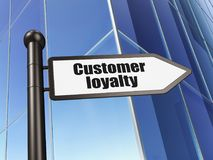Marketing concept: sign Customer Loyalty on Building background. 3D rendering Royalty Free Stock Photography