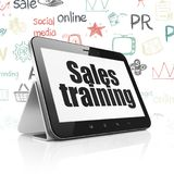 Marketing concept: Tablet Computer with Sales Training on display. Marketing concept: Tablet Computer with black text Sales Training on display, Hand Drawn stock images