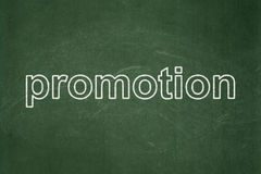 Marketing concept: Promotion on chalkboard background Royalty Free Stock Images