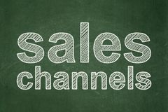 Marketing concept: Sales Channels on chalkboard background Royalty Free Stock Photo
