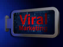 Marketing concept: Virale Marketing op aanplakbordachtergrond Stock Foto