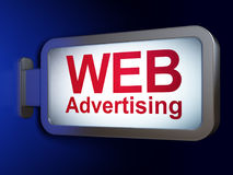 Marketing concept: WEB Advertising on billboard background Royalty Free Stock Photography