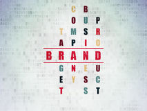 Marketing concept: word Brand in solving Crossword Stock Images