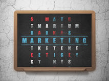 Marketing concept: word Marketing in solving Stock Image
