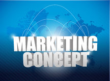 Marketing concept world map background Royalty Free Stock Images