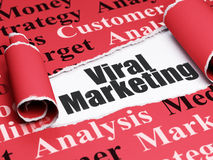 Marketing concept: zwarte tekst Virale Marketing onder het stuk van gescheurd document Royalty-vrije Stock Afbeeldingen