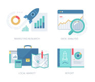 Marketing Concepts Collection Royalty Free Stock Photos