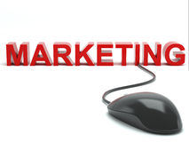 Marketing connected to a computer mouse Stock Image