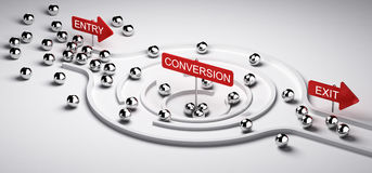 Marketing Conversion Funnel Stock Images