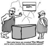 Marketing Created The Wheel! Royalty Free Stock Photos
