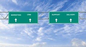 Marketing, CRM, steun en levering royalty-vrije stock foto's