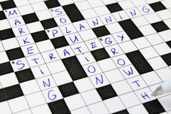 Marketing crossword. Bussiness concept. Stock Photography