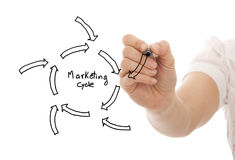 Marketing cycle sketch Royalty Free Stock Photo