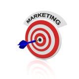 Marketing. Dart target with a dart arrow Stock Images