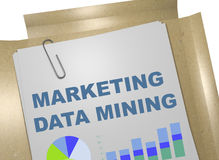 Marketing-Data - Mining-Konzept Stockbild