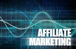 Marketing de afiliados stock de ilustración