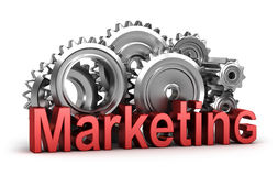 Marketing in de beweging Stock Foto