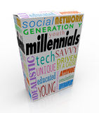 Marketing der Millennials-Produkt-Kasten-Paket-Jugend-Generations-Y Stockfoto