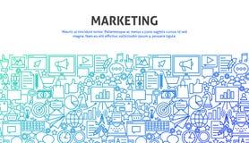 Marketing Design Concept. Vector Illustration of Line Web Design. Digital Banner Template Royalty Free Stock Images