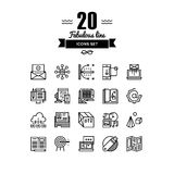 Marketing development line icons set Royalty Free Stock Photography