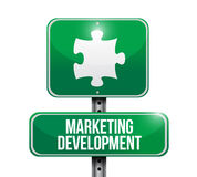 Marketing development puzzle piece sign Stock Photography