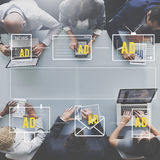 MARKETING-Digital-Branding-Konzept Advertisting Handels Lizenzfreie Stockbilder