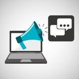 Marketing digital bubble speech concept Stock Images