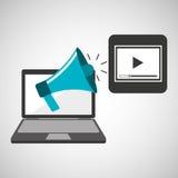 Marketing digital video player concept. Vector illustration eps 10 Royalty Free Stock Image