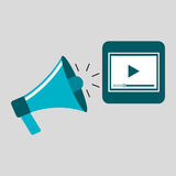 Marketing digital video player concept Royalty Free Stock Image