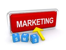 Marketing door mobiele telefoon Stock Afbeelding
