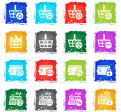 Marketing and e-commerce icon set Stock Photo