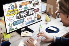Marketing Economy Commercial Digital Growth Concept stock photo