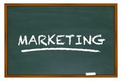 Marketing Education Basics Principles Chalk Board Word Stock Images