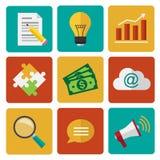 Marketing-Elemente Stockfoto
