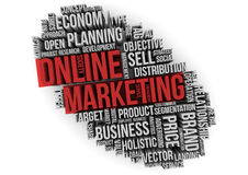 Marketing en ligne illustration de vecteur