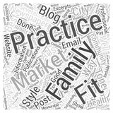 Marketing the Family Practice word cloud concept word cloud concept vector background Stock Image