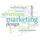 Marketing fasst Wolke ab. Stockfoto