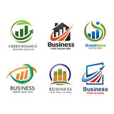 Marketing and finance logo  set vector Royalty Free Stock Photography