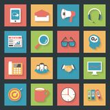 Marketing flat icons set Royalty Free Stock Photos
