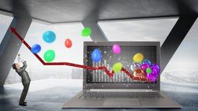 Marketing focus pocus . Mixed media Stock Images