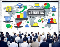 Marketing Global Business Branding Connection Growth Concept stock photos
