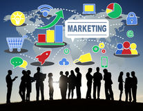 Marketing Global Business Branding Connection Growth Concept Royalty Free Stock Photo