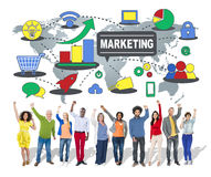 Marketing Global Business Branding Connection Growth Concept Royalty Free Stock Images