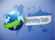 Marketing goals sign illustration design Royalty Free Stock Image