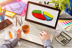 Marketing Graph Statistics Digital  Analysis Finance Concept Stock Image