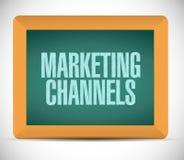 Marketing het tekenillustratie van het kanalenbord royalty-vrije stock afbeeldingen